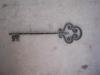 kulcs alakú kovácsolt kulcstartó