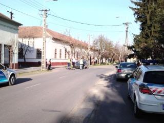 Dévaványa baleset 2014.03.20 Széchenyi utca Bem utca sarok