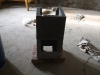 betonelemek - kályha készítése