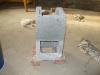 betonelemek vakuval - kályha készítése