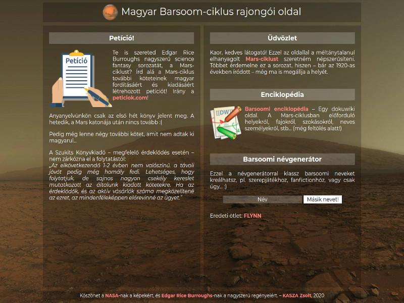 barsoom.hu új design